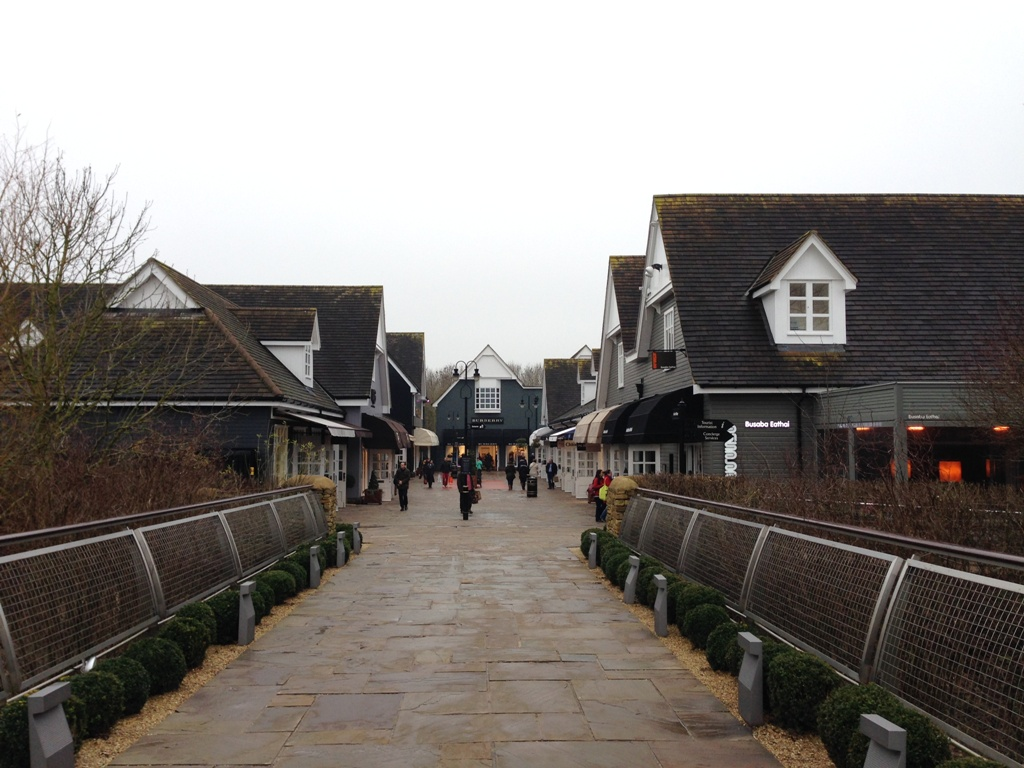 Shoppingoutletet Bicester Village i England